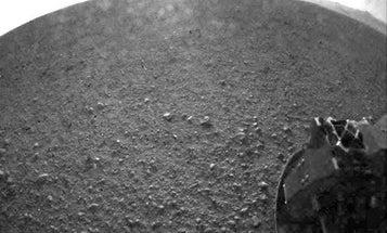 Mars Rover Curiosity Sends First High-Resolution Photo