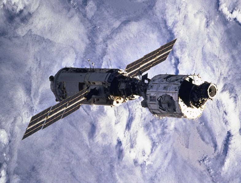 ISS Assembly Mission 2A in the orbit