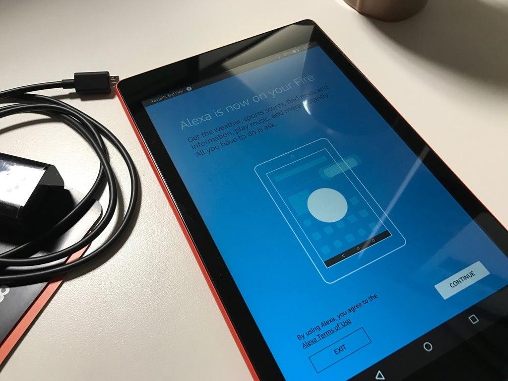 Amazon Fire tablet and Alexa