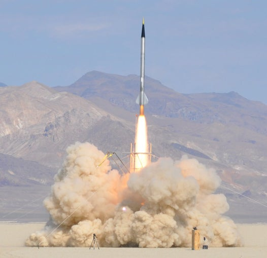 Video: A Homemade Rocket Soars 121,000 Feet in 92 Seconds