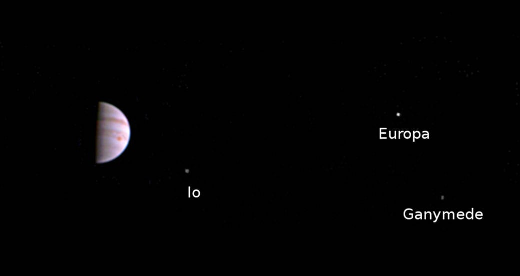The Juno Spacecraft Sent Back Its First Postcard From Jupiter's Orbit