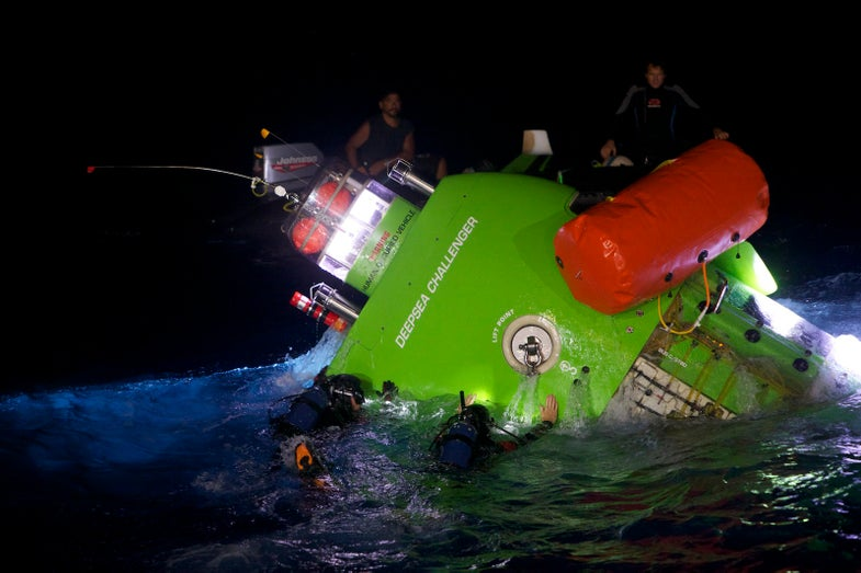 This Month, James Cameron Will Dive to the Deepest Point on Earth in a Custom-Built Sub