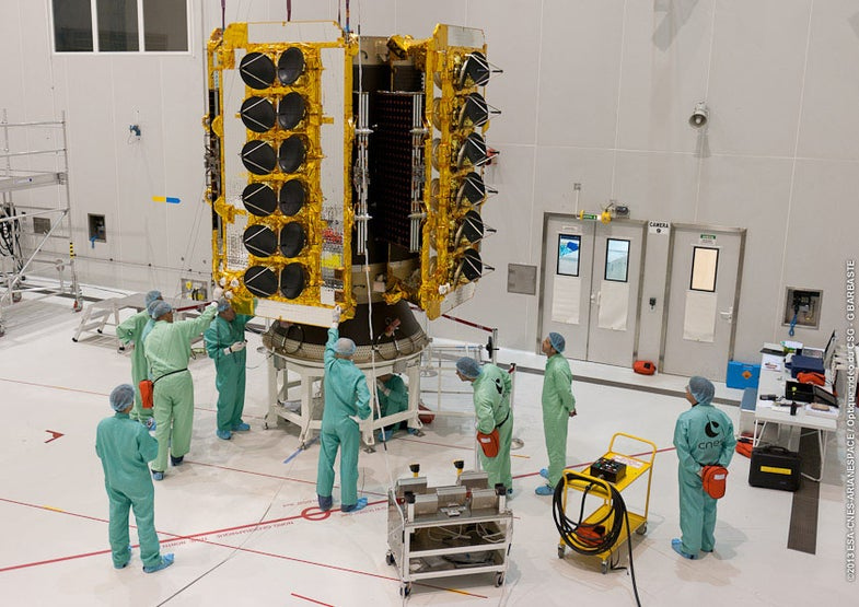 O3b Satellites mounted to launch dispenser