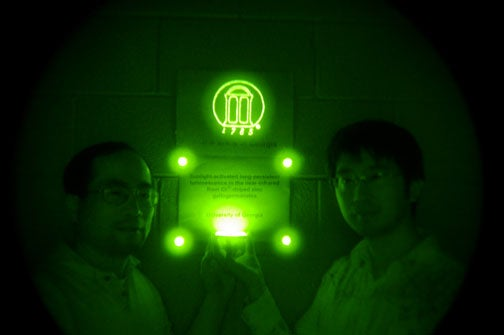 New Glow-in-the-Dark Material Charges In One Minute, Glows Infrared for Two Weeks