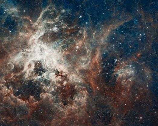 Hubble Snaps a Star Factory at the Center of the Tarantula Nebula
