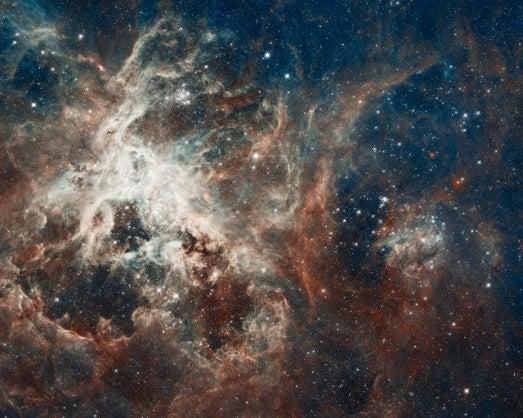 Hubble Snaps a Star Factory at the Center of the Tarantula Nebula