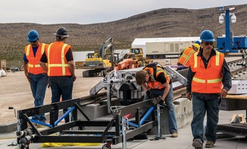 Hyperloop Motor Tested For The First Time In The Nevada Desert