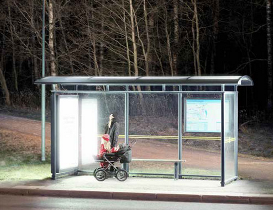 To Fight Winter Blahs, Sweden Offers Light Therapy At The Bus Stop