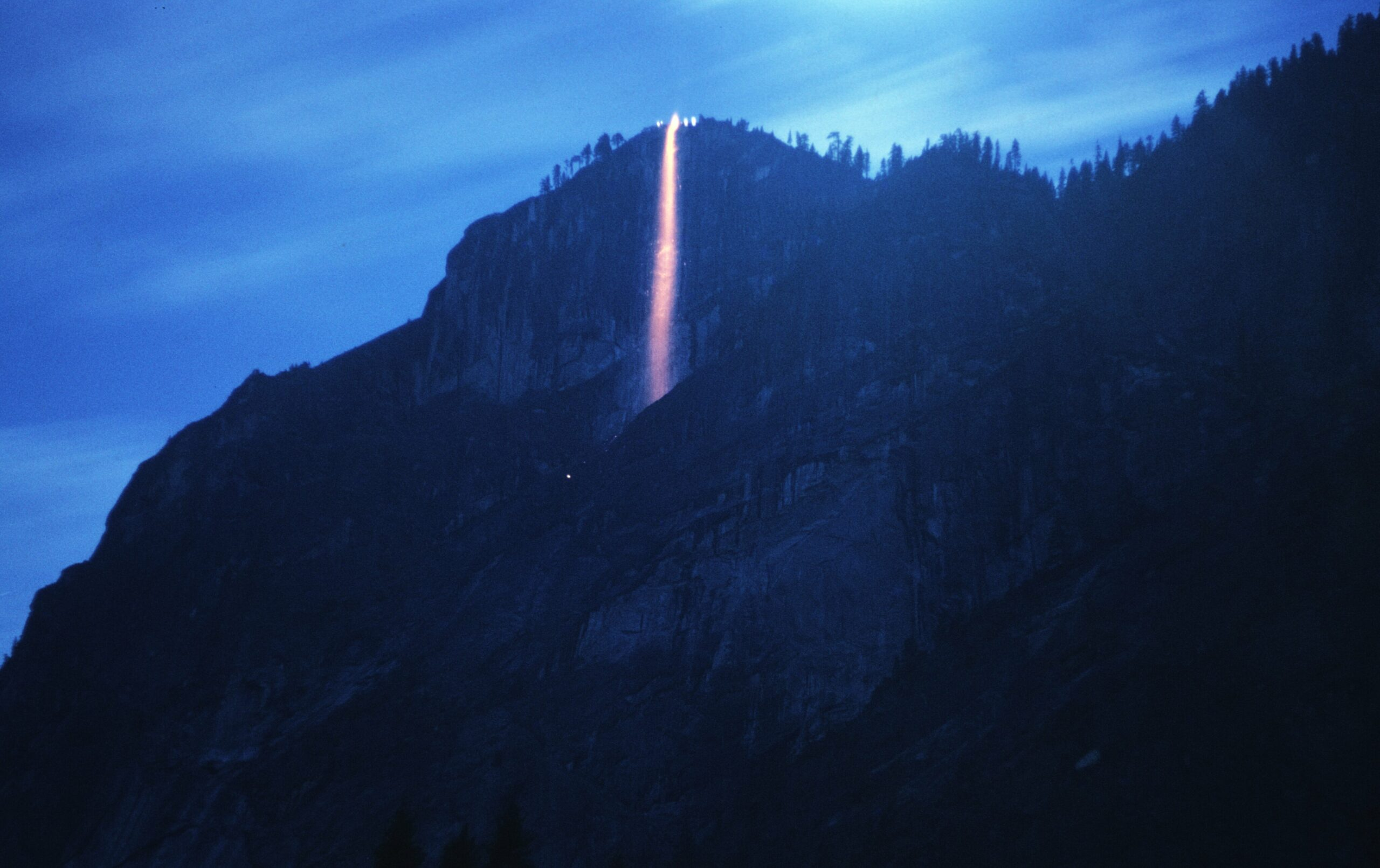 Remember that time Yosemite's firefall was actual fire?