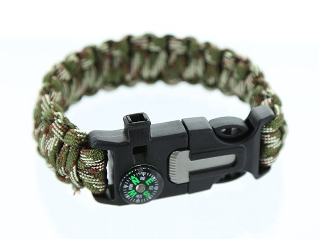 5-in-1 Survival Flint Fire Starter Bracelet