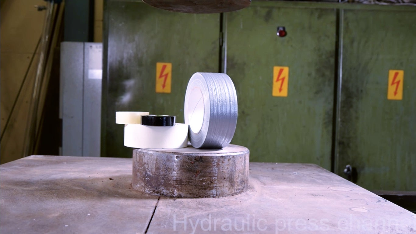 Duct Tape Takes On The Hydraulic Press