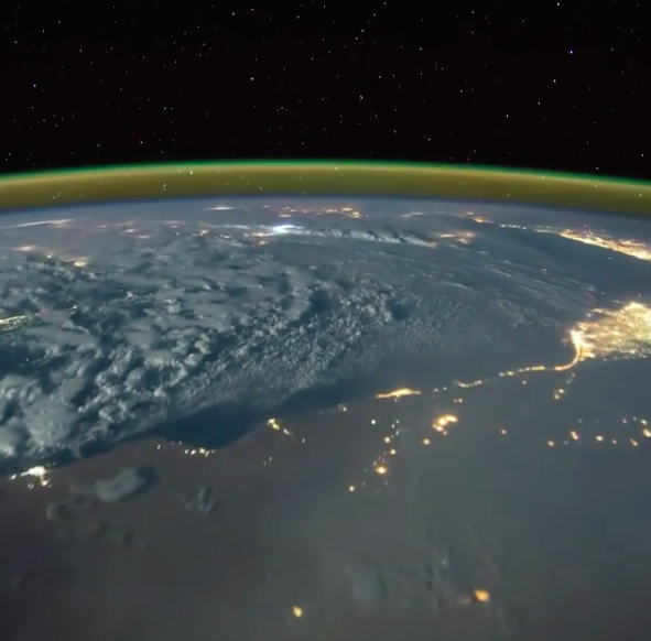 Watch Lightning Strike The Earth Through The Space Station's Window