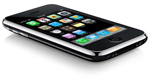 iphone on white background