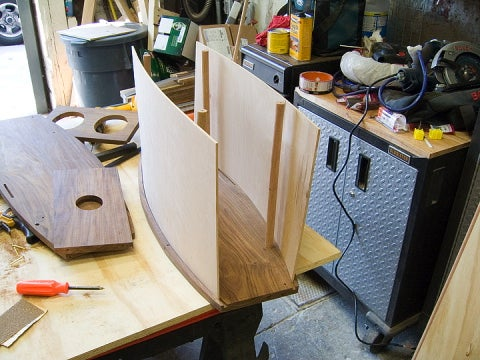 1/8-inch maple slid into router slots