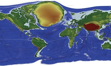Earth's Most Remote Locations Revealed In 'Lonely Planet' Cartogram