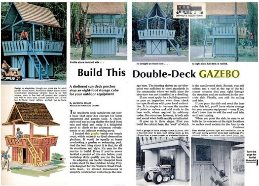 Archive Pull of the Week: A DIY Gazebo Close To One Reader's Heart