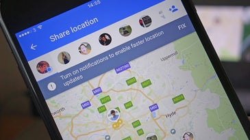 Location tracking on a phone on Google Maps.
