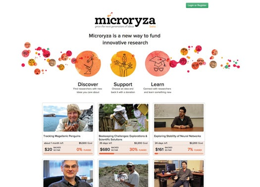 Website of the Month: Crowdsourced Science Funding