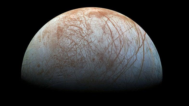 Jupiter's moon could hide life.