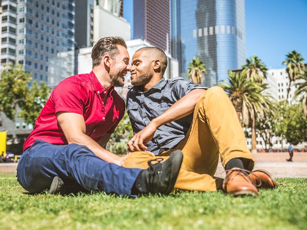 boyfriends in the park