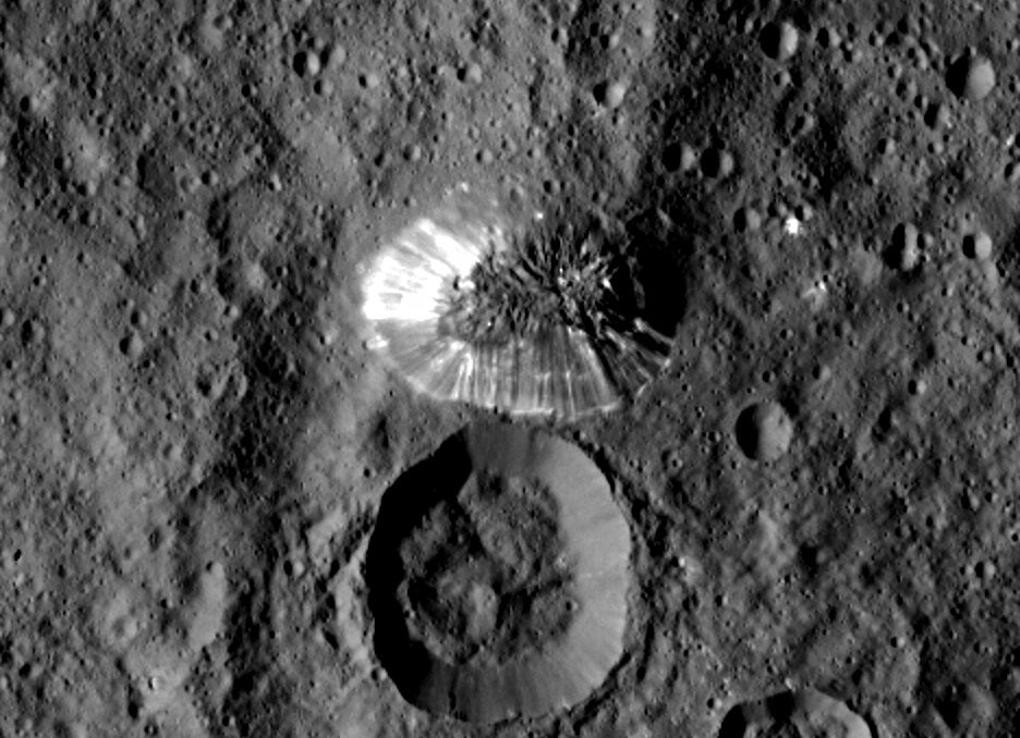 Dawn Spacecraft Snaps A Closeup Of Mysterious Pyramid On Ceres