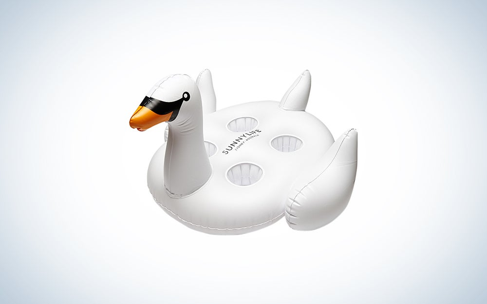 GoFloats Inflatable Pool Swan Drink Holders Swan