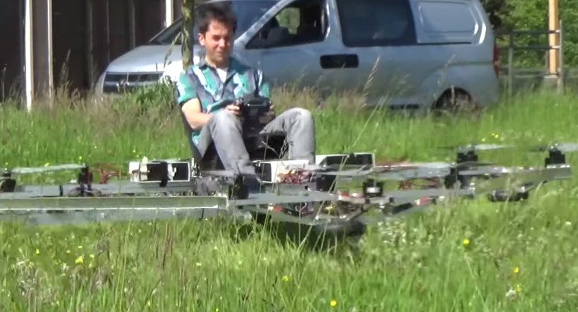 Watch This Strange Multicopter Carry A Guy