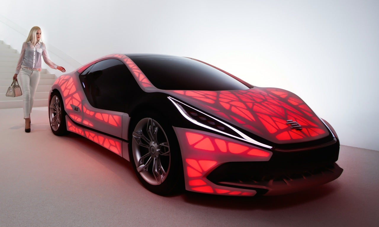 A 3D-Printed Car Inspired By The Leaf Of A Plant