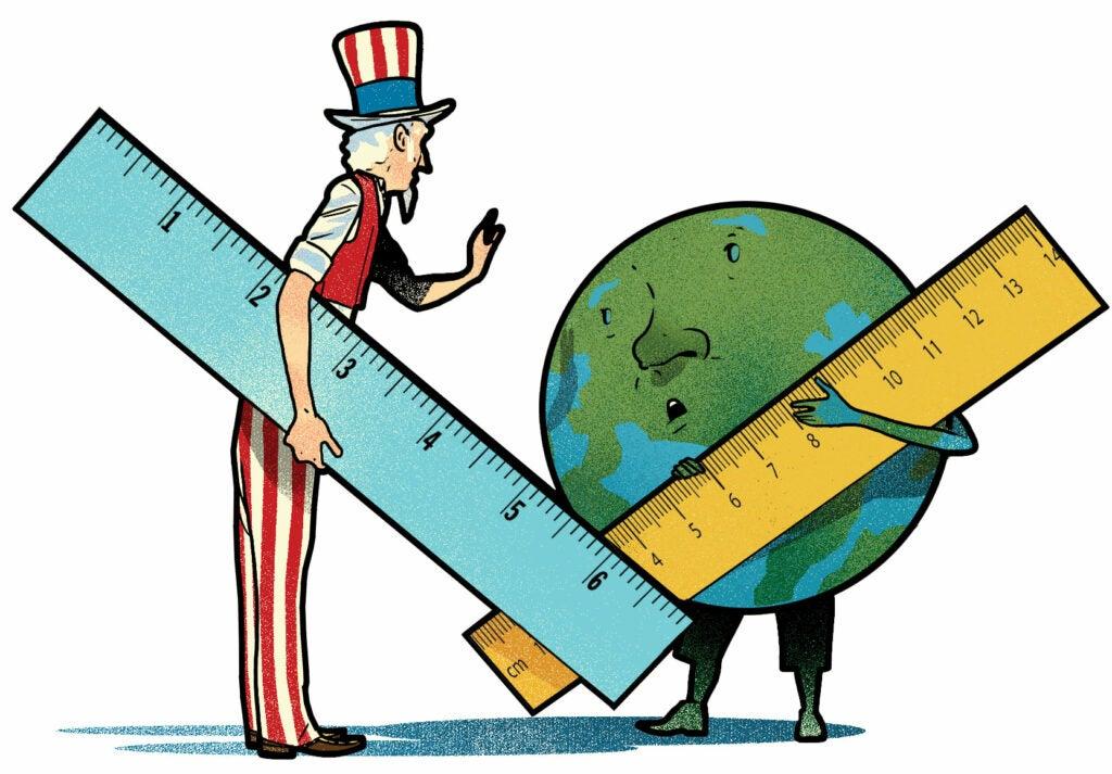 Uncle Sam versus the metric system