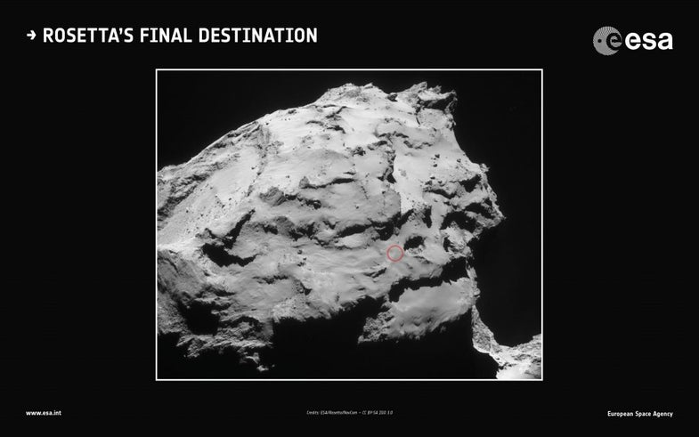 Rosetta Spacecraft Heads To Its Final Destination