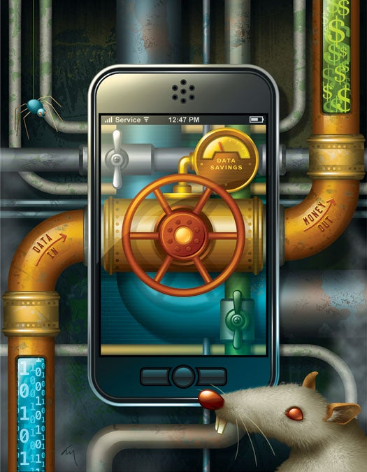 Cheap Tricks: Slow the Expensive Data Flow From Your Smartphone