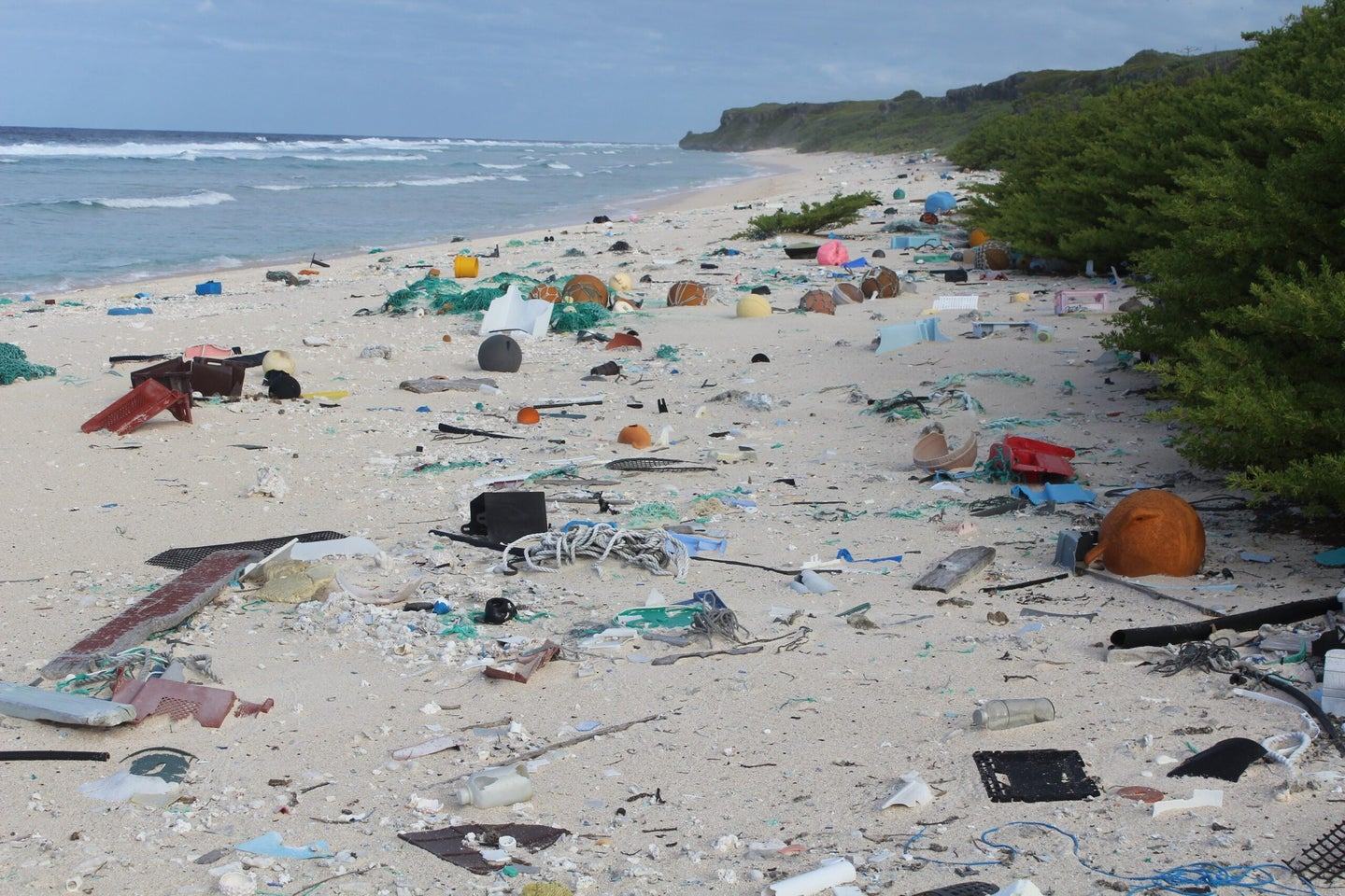This remote island in the South Pacific is covered in 18 tons of our trash