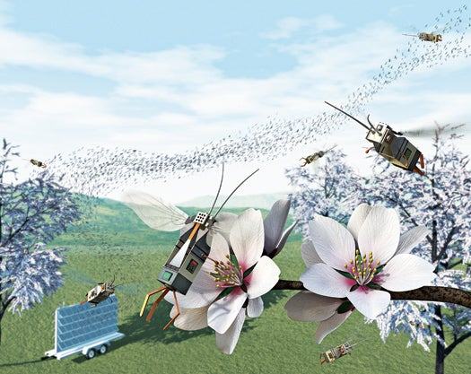 Robotic Insects Could Pollinate Flowers and Find Disaster Victims