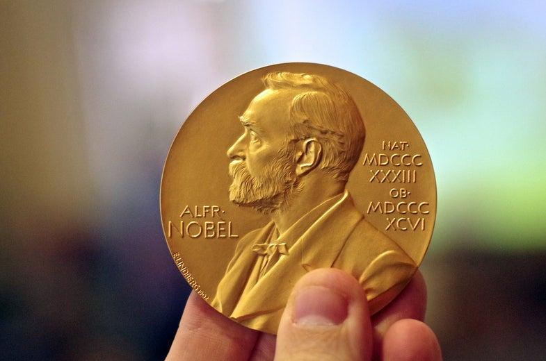 Nobel Prize medallion Alfred Nobel gold