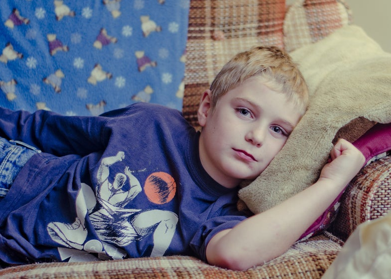 boy on couch