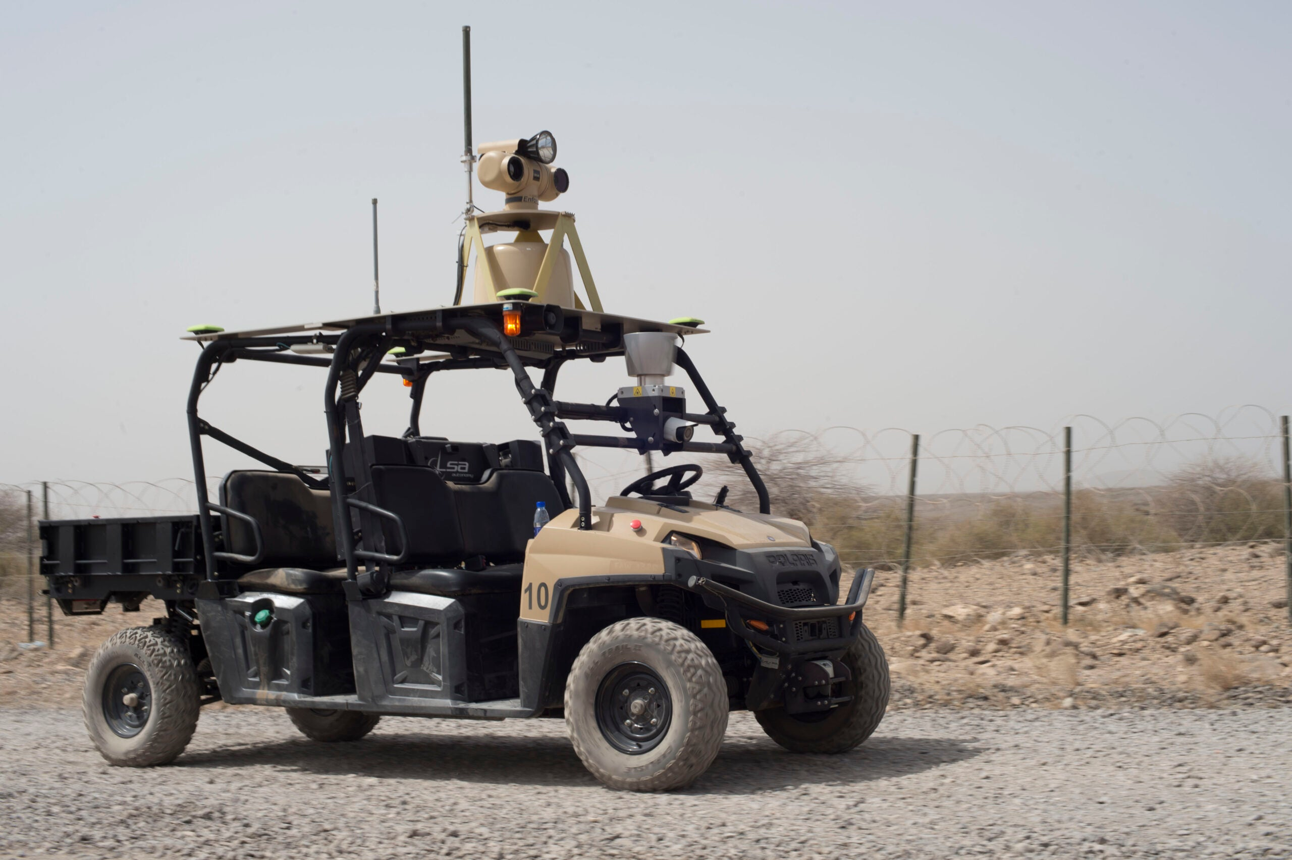 The U.S. Military Is Patrolling Djibouti With Robot Golf Carts