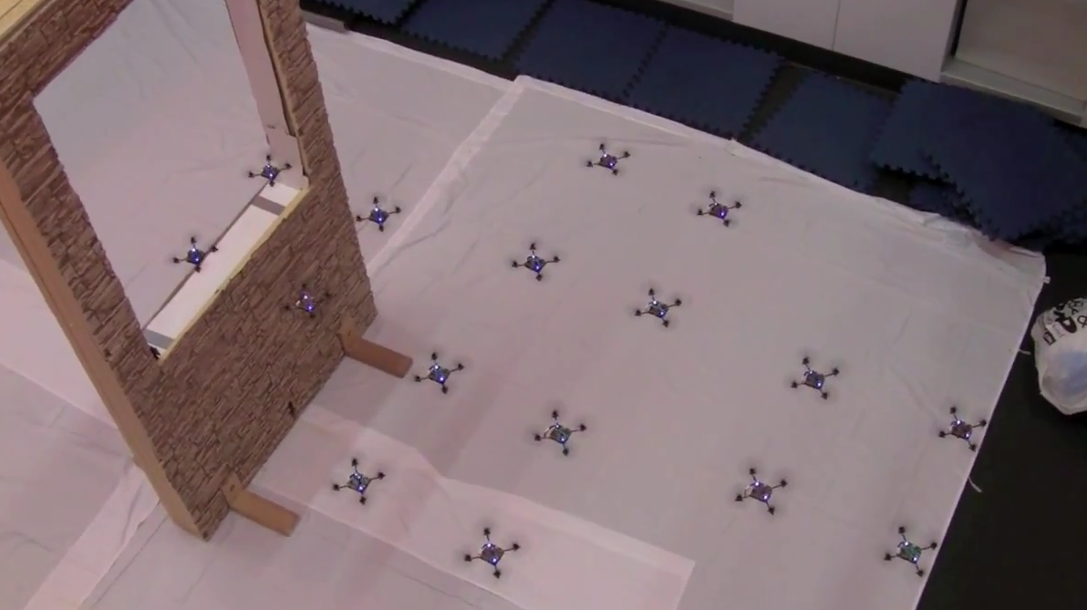 Video: Swarm of Tiny Quadcopters Do a Delicate Dance