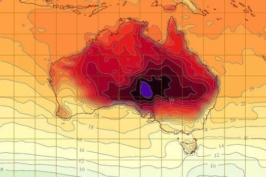 Official Australian Weather Map Gets New Colors To Depict Extreme Heat