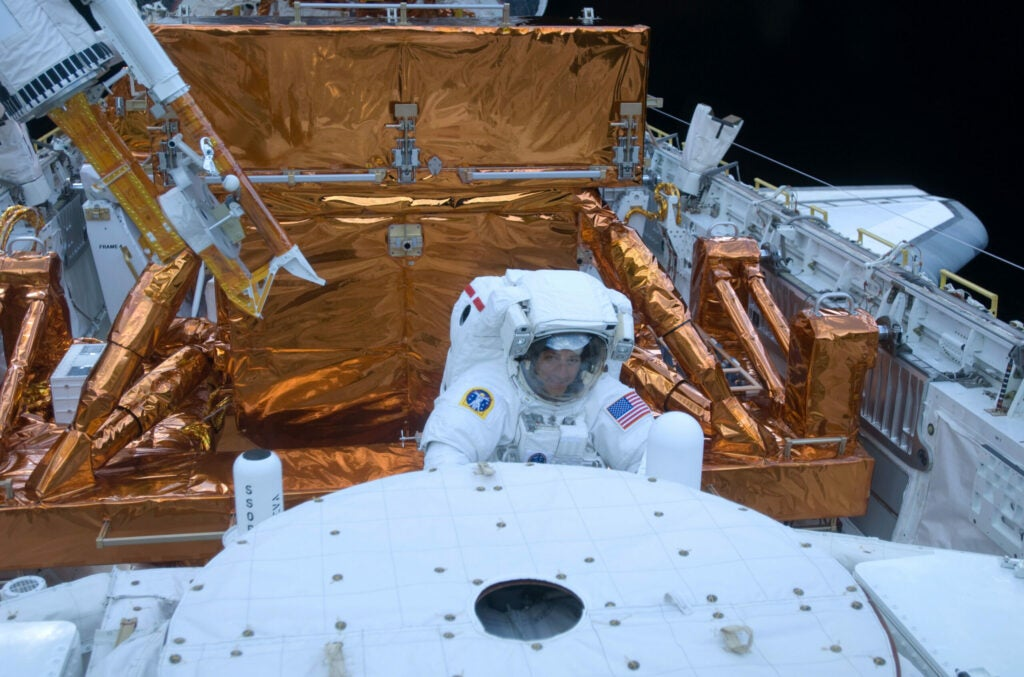 Massimino on his second (and the last ever) Hubble repair mission.