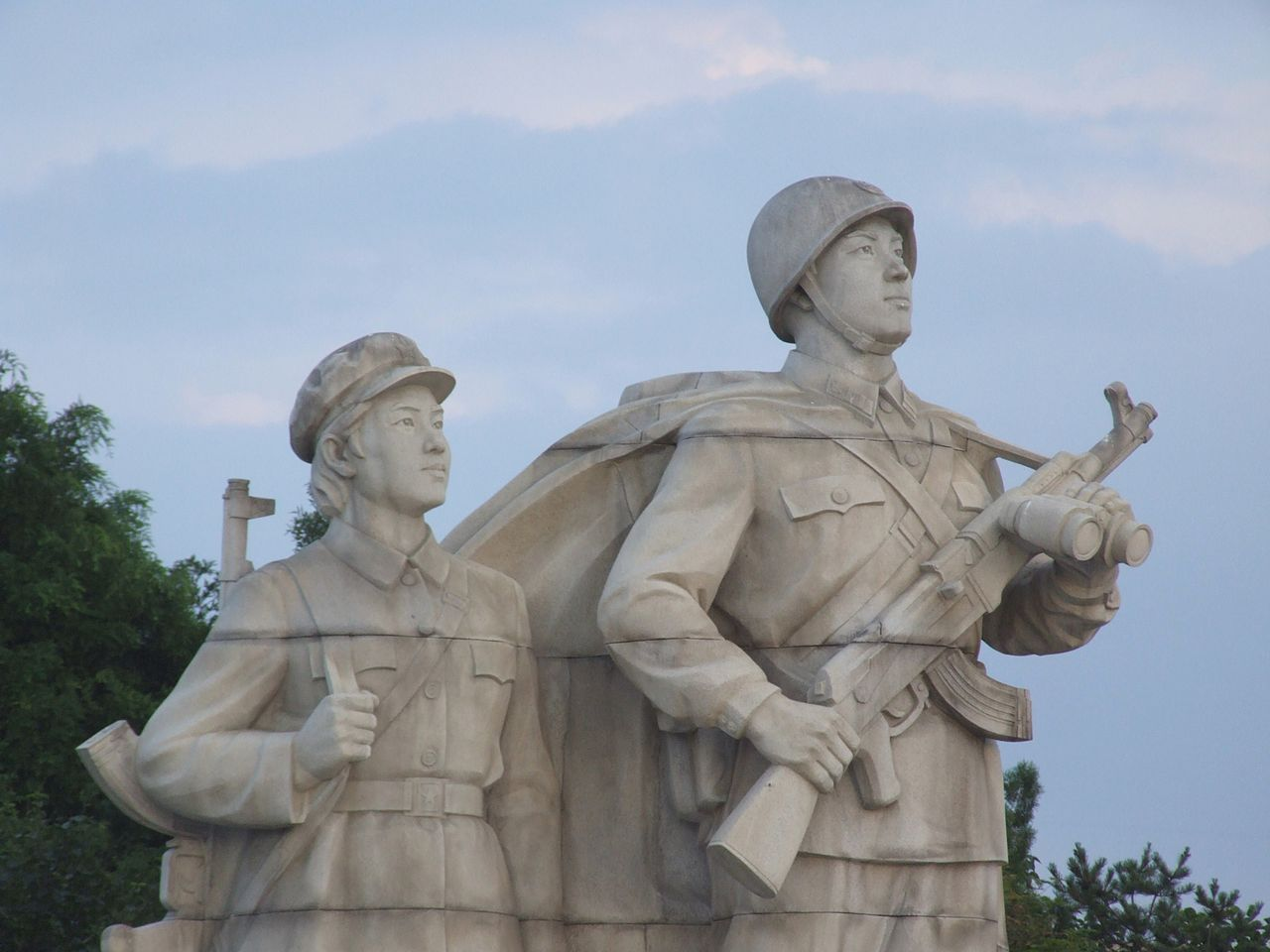 Sculpture at Juche Tower in Pyongyang