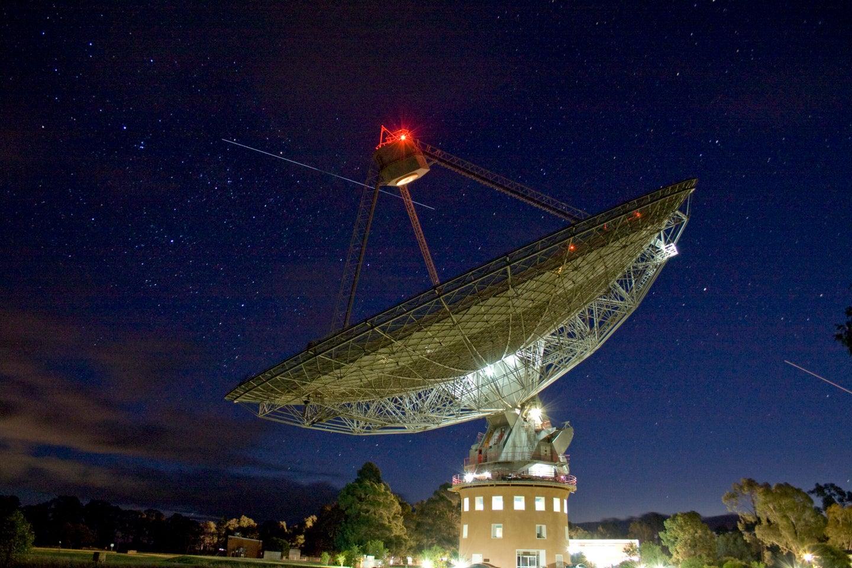 Parkes radio telescope in New South Wales, Australia