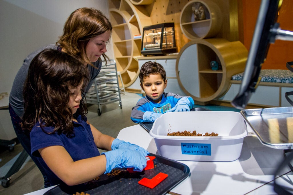 The BioTinkering Lab provides hands-on biodesign activities.