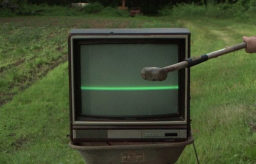 Video: Sledgehammer Meets Television, in Ultra Slow Motion