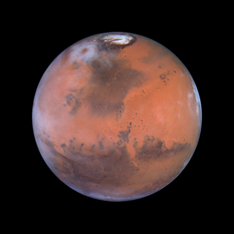 Mars. A snapshot of the whole planet.