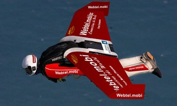 """""""Jet Man"""" Yves Rossy Attempts First Intercontinental Flight, Ditches Into Atlantic"""