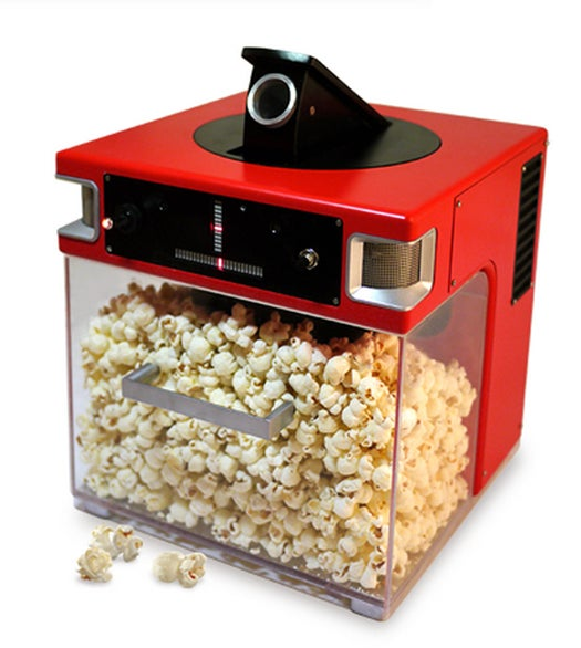 Video: The Popinator Tracks Where Your Voice Is Coming From And Shoots Popcorn Into Your Mouth