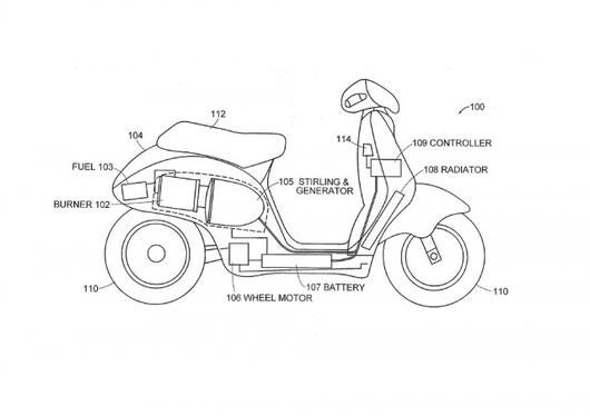 Dean Kamen-Designed Electric Scooter Concept Can Run on Anything Flammable