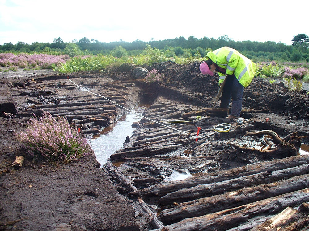Excavating a trackway on Hatfield Moors