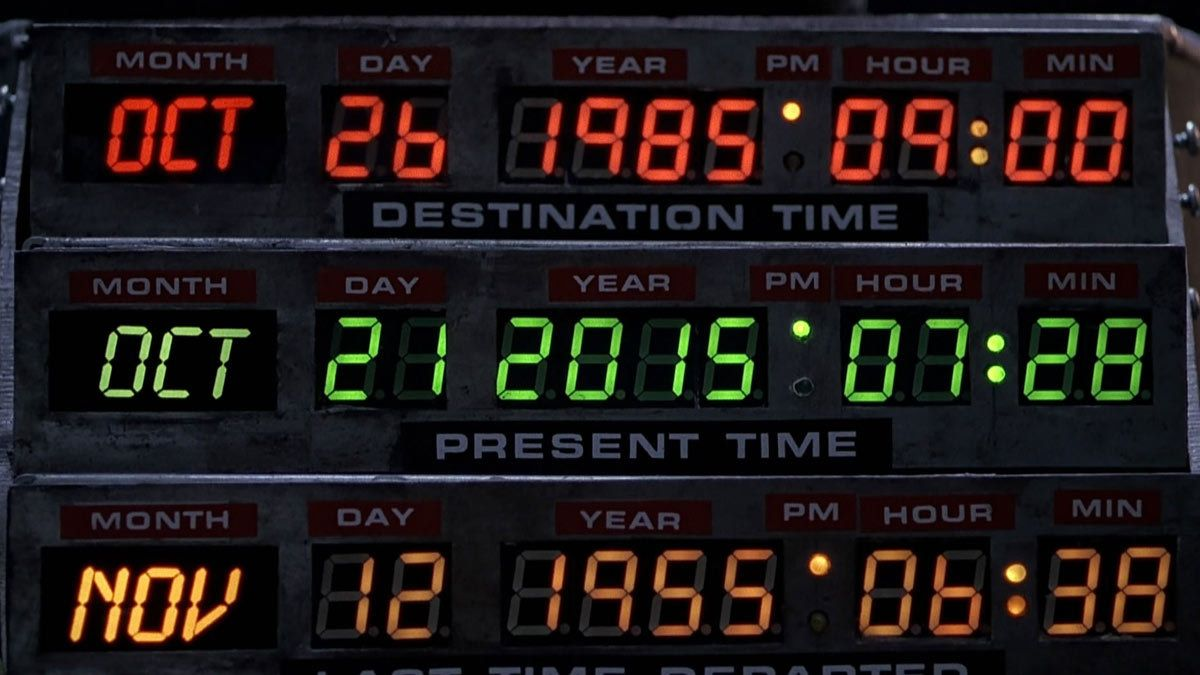 No Need For Time Travel: October 21st, 2015 is 'Back to the Future' Day