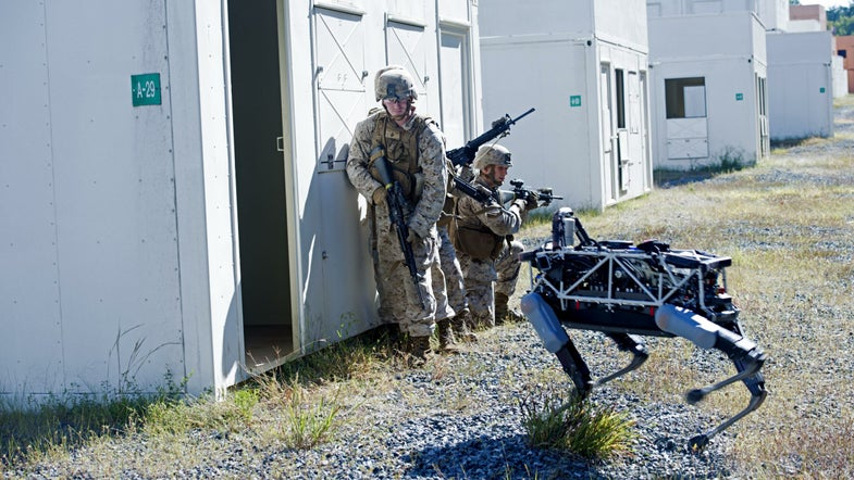 Spot And Marines At Quantico